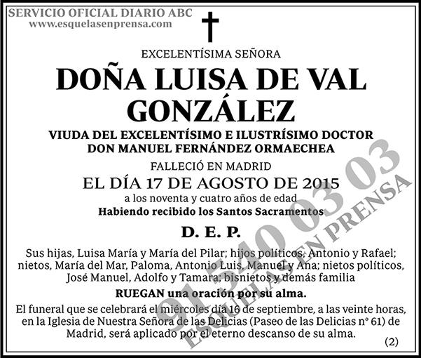 Luisa de Val González
